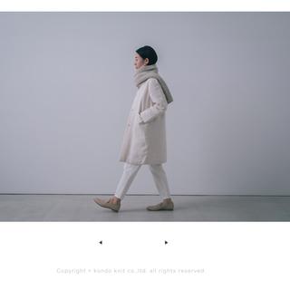 エヴァムエヴァ(evam eva)のevam eva  リネンコート オフホワイト サイズ2(ロングコート)