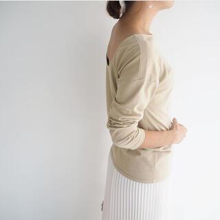 cen. 日本製2wayカットソー バックオープンmyclozette(Tシャツ(半袖/袖なし))