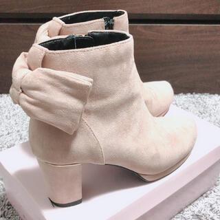 エスペランサ(ESPERANZA)のESPERANZA♥ピンクブーツ♥リボン付き♥S(ブーツ)