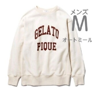 gelato pique - ジェラートピケ ロゴスウェット オートミール