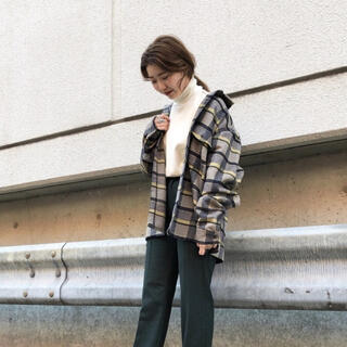 Kastane - 【美品】layered flannel shirt uni_wear