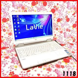 NEC - 【人気のホワイト】Corei5♪新品SSD♪ブルーレイ♪Windows10