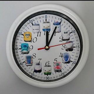 新幹線 分入り 白枠 掛け時計