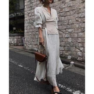 Ameri VINTAGE - AMERI WASHI LAYERED DRESS ホワイト