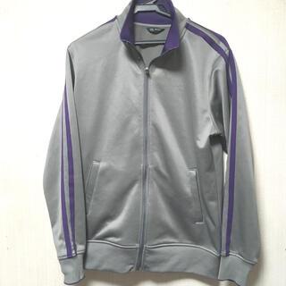 ユニクロ(UNIQLO)のユニクロ ジャージ トップス 灰×紫 Lサイズ(ジャージ)