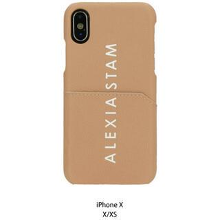 アリシアスタン(ALEXIA STAM)のALEXIASTAM  Logo iPhone Case Camel X/XS用(iPhoneケース)