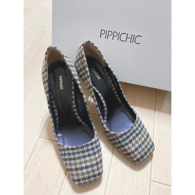 【PIPPICHIC】ピッピシック スクエアパンプス レディースの靴/シューズ(ハイヒール/パンプス)の商品写真