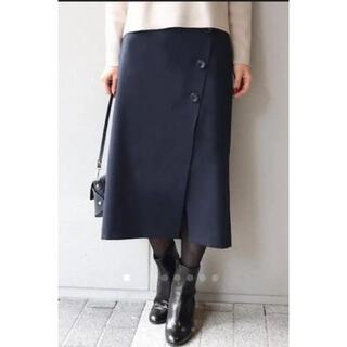 Noble - NOBLE ノーブル◆ボタン トラペーズスカート 34