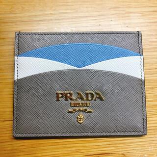 プラダ(PRADA)のPRADA プラダ サフィアーノレザー カードホルダー(名刺入れ/定期入れ)