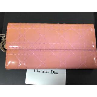 クリスチャンディオール(Christian Dior)のクリスチャンディオール ヴィンテージ パテント 長財布(財布)