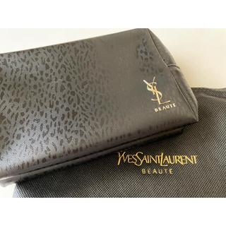Yves Saint Laurent Beaute - 新品 ♡ ysl イヴサンローラン ヒョウ柄 ポーチ ブラック 限定