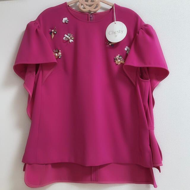 Chesty(チェスティ)のタグ付き新品♡チェスティブラウス レディースのトップス(シャツ/ブラウス(半袖/袖なし))の商品写真