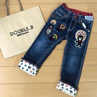 DOUBLE.B - 美品ダブルB 100cm 豪華刺繍パンツ