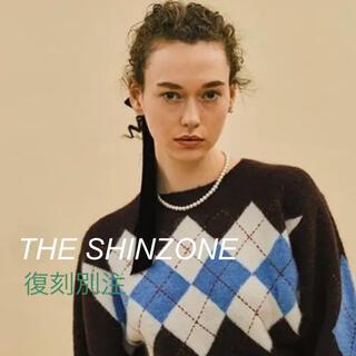 シンゾーン(Shinzone)の【復刻別注】THESHINZONE アーガイルニット即完売ブラウン ウール(ニット/セーター)