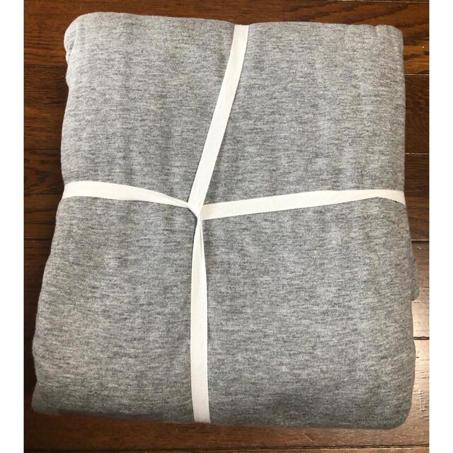 MUJI (無印良品)(ムジルシリョウヒン)の【新品】無印 綿100% 掛け布団カバー シングルサイズ(ファスナー付)杢グレー インテリア/住まい/日用品の寝具(シーツ/カバー)の商品写真