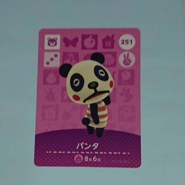 Nintendo Switch(ニンテンドースイッチ)のあつまれどうぶつの森 あつ森 ニンテンドースイッチ amiiboカード パンタ エンタメ/ホビーのアニメグッズ(カード)の商品写真