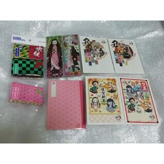 禰豆子 年賀状 各1枚、 ポケットティッシュ 5種類 ミニノート セット(キャラクターグッズ)