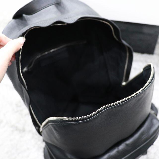 Balenciaga(バレンシアガ)のBalenciaga バレンシアガ レザー バックパック 黒 メンズのバッグ(バッグパック/リュック)の商品写真