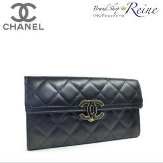 CHANEL - 新品 シャネル (CHANEL) クリップ フラップ マトラッセ 長財布