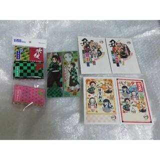 炭治郎 年賀状 各1枚、 ポケットティッシュ 5種類 ロングステッカー セット(キャラクターグッズ)