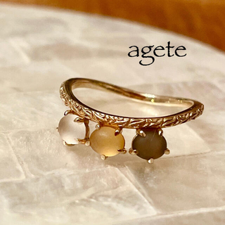 agete - 【新作✦agete】アガット*9号*K10YG*リング*シトリン*クォーツ