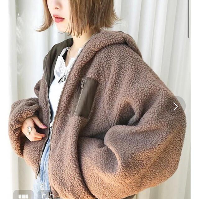 apres jour ボアブルゾン レディースのジャケット/アウター(ブルゾン)の商品写真