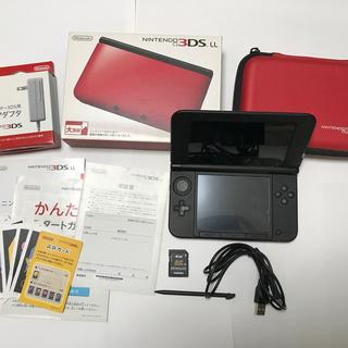 ニンテンドー3DS - ニンテンドー3DSLLレッド×ブラック美品