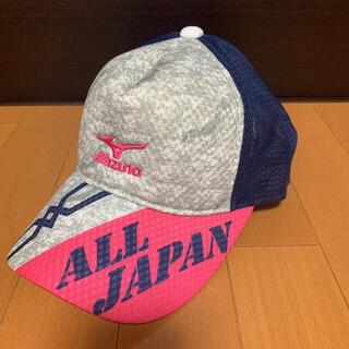 ミズノ(MIZUNO)の【MIZUNO】ミズノ ALL JAPANメッシュキャップ未使用品/紺,テニス(その他)