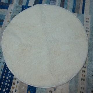 ニトリ(ニトリ)のラグ ホワイト 直径90cm(ラグ)