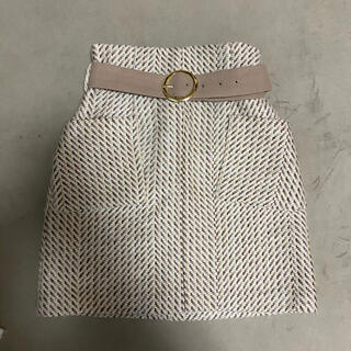 Lily Brown - リリーブラウン ベルト付きハイウエストスカート