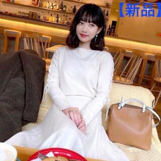 Cherie Mona - 【新品】レディース レース ニット セットアップ リボン  白 冬服 かわいい