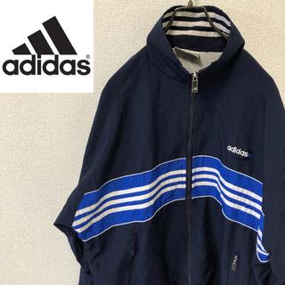 アディダス(adidas)の【希少】アディダス ビッグサイズ ナイロンジャケット 万国旗タグ 90s(ナイロンジャケット)