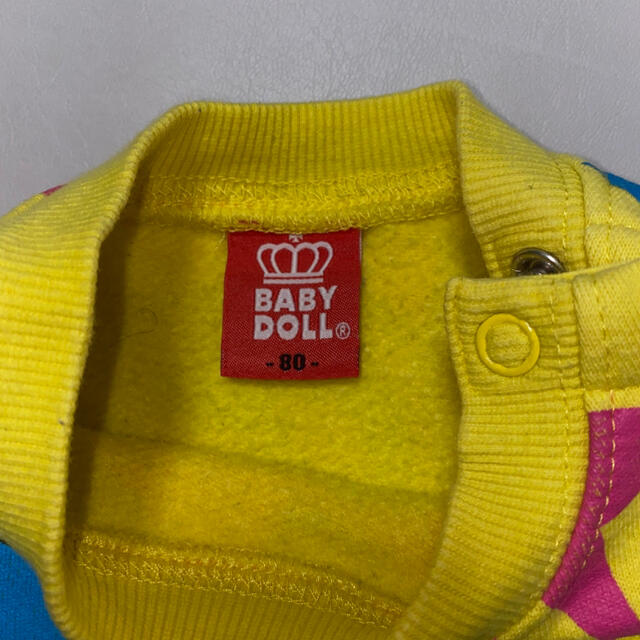 BABYDOLL(ベビードール)の【BABYDOLL】ベビードール 裏起毛 トレーナー80 キッズ/ベビー/マタニティのベビー服(~85cm)(トレーナー)の商品写真