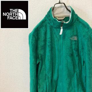 ザノースフェイス(THE NORTH FACE)のノースフェイス☆刺繍ロゴ フリースジャケット グリーン(ブルゾン)
