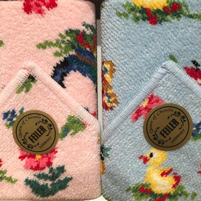 FEILER(フェイラー)の新品箱入☆フェイラー ハンカチタオル ハイジ2枚セット レディースのファッション小物(ハンカチ)の商品写真