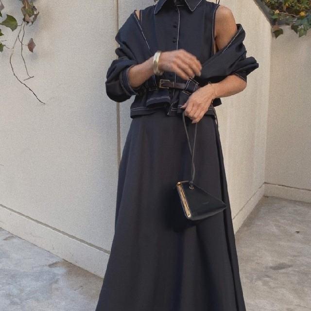 Ameri VINTAGE(アメリヴィンテージ)のGENTLEWOMAN OVERLAP DRESS レディースのワンピース(ロングワンピース/マキシワンピース)の商品写真
