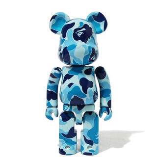アベイシングエイプ(A BATHING APE)のBAPE X MEDICOM TOY ABC CAMO BE@RBRICK 青(その他)