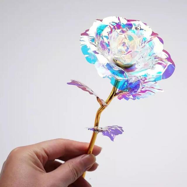 クリスタル フラワー ウェディング 韓国インテリア LED なし インテリア/住まい/日用品のインテリア小物(花瓶)の商品写真