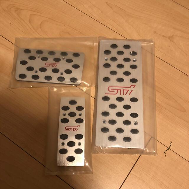 スバル(スバル)のスバル アルミペダル STI 自動車/バイクの自動車(車内アクセサリ)の商品写真