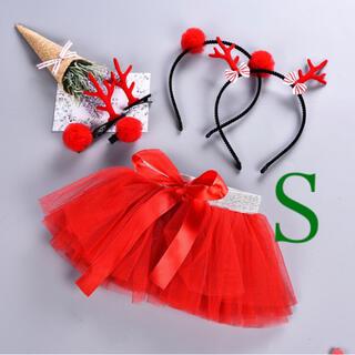 キラキラ チュールスカート ベビー キッズ クリスマス サンタ 赤 プレゼント