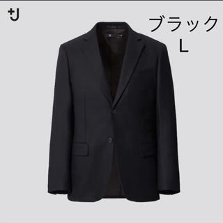 UNIQLO - 新品 Lサイズ UNIQLO +J ウールテーラードジャケット ブラック
