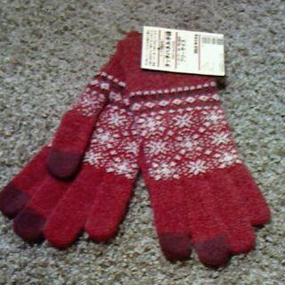 ムジルシリョウヒン(MUJI (無印良品))のまるこさま専用 タグ付き MUJI 手袋 タッチパネル対応(手袋)