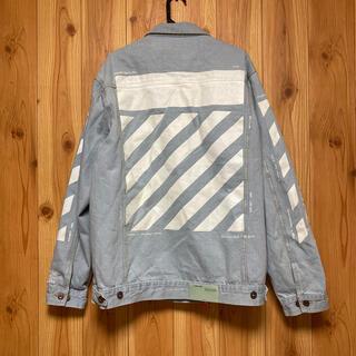 OFF-WHITE - オフホワイト  ビッグプリント デニムジャケット Gジャン