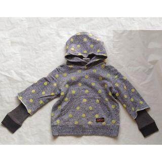 グルービーカラーズ(Groovy Colors)のグルービーカラーズ パーカー 美品 110 デニム&ダンガリー(Tシャツ/カットソー)