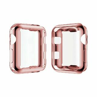 アップルウォッチ シリーズ 2/3  38mm 42mm 全面 保護  ピンク(腕時計(デジタル))