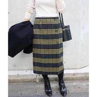 IENA - ENA Wフェイスリバーシブル ミッドカーフスカート