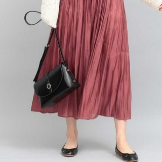 ViS - vis シャイニーサテンロングスカート