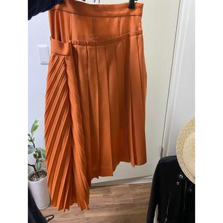 ルシェルブルー(LE CIEL BLEU)のプリーツ変形スカート(ひざ丈スカート)