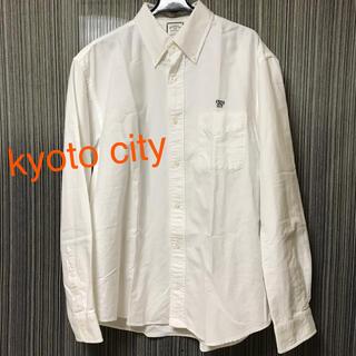 kyoto city  白シャツ 京都 ボタンダウン オーバーサイズシャツ(シャツ)