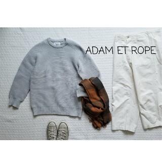 アダムエロぺ(Adam et Rope')のほぼ未使用 アダムエロペ  ホールガーメントクルーネックニット ユニセックス(ニット/セーター)